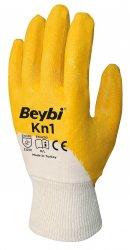 Beybi Kn1 nitriilipinnoitetut puuvillakäsineet