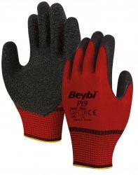 Beybi PI9 lateksipinnoitetut polyesterikäsineet