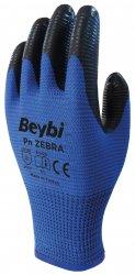 Beybi Pn Zebra nitriilipinnoitetut polyesterikäsineet