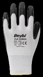 Beybi Pn5 Zebra nitriilipinnoitetut polyesterikäsineet